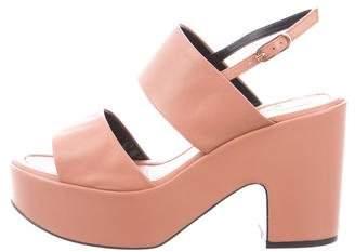 Robert Clergerie Platform Leather Sandals w/ Tags