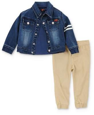 7 For All Mankind Boys' Denim Jacket, Tee & Pants Set - Baby