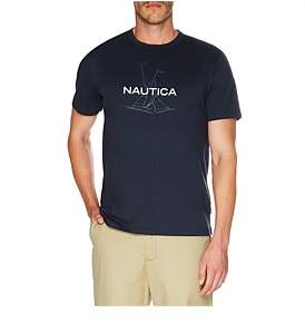 Nautica Anchor Flag Print Tee