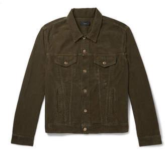Alanui Slim-Fit Intarsia Cashmere-Panelled Cotton-Corduroy Jacket
