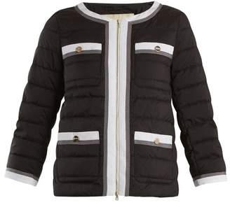 Herno High Neck Quilted Jacket - Womens - Black Multi
