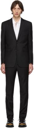 Burberry (バーバリー) - Burberry ブラック ウール クラシック スーツ