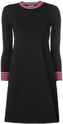 Emporio Armani stripe detail knitted dress