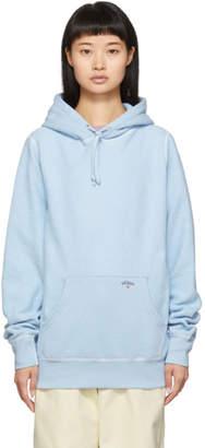 Noah NYC Blue Reverse Fleece Hoodie