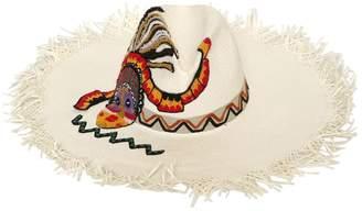 Etro Maasai Fringed Floppy Hat