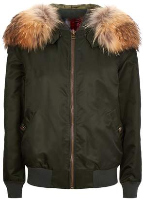 Mr & Mrs Italy Fur Lined Bomber Jacket