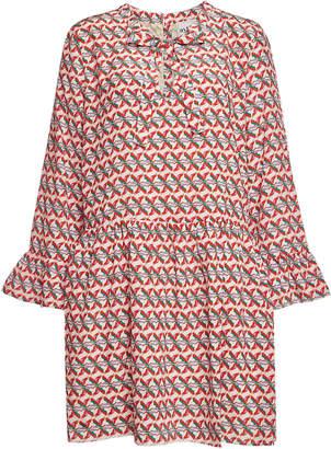 Dany Aybi Printed Silk Dress