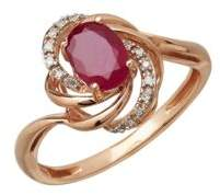 Lord & Taylor Diamond And Ruby 14K Rose Gold Ring