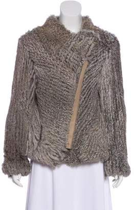 Helmut Lang Wool Fur Jacket