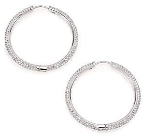 Adriana Orsini Women's Pavé Hoop Earrings/1.4""