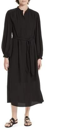 Equipment Francois Tie-Waist Silk Midi Dress