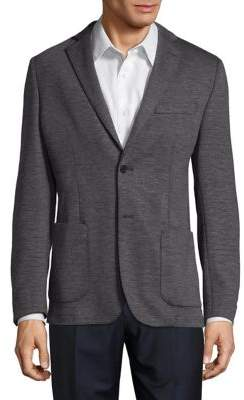 Black & Brown Black Brown Slim-Fit Heathered Sportcoat