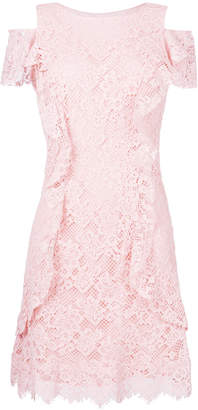 Pinko lace dress with frill trim