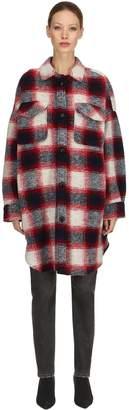 Etoile Isabel Marant Gario Oversize Wool Blend Plaid Coat