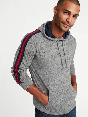 Old Navy Lightweight Jersey Sleeve-Stripe Pullover Hoodie for Men