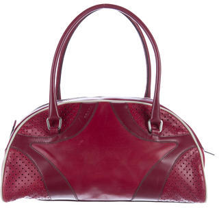 prada Prada Perforated Bowler Bag