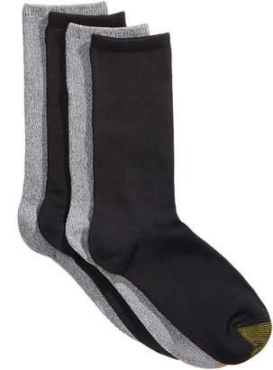 Gold Toe Women's 4-Pk. Ultra-Soft Flat-Knit Crew Socks