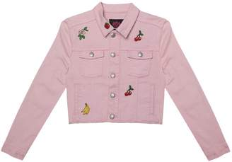 Juicy Couture Fruit Embroidered Denim Jacket for Girls