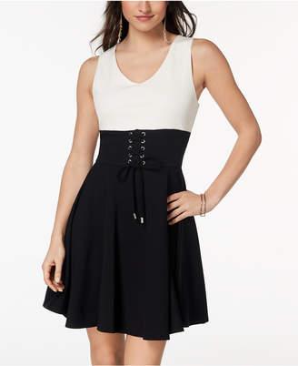 XOXO Juniors' Corset Fit & Flare Dress