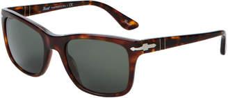 Persol PO31355S Brown & Tortoiseshell-Look Square Sunglasses