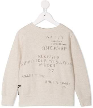 Denim Dungaree long-sleeve printed sweatshirt