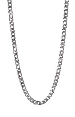 The Love Silver Collection Sterling Silver 1/2oz Solid Diamond-Cut Curb Chain