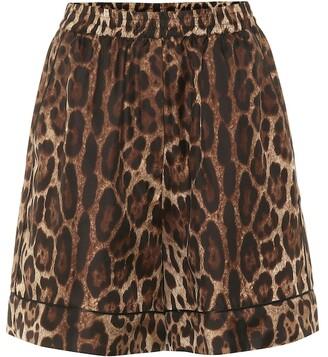 Dolce & Gabbana Leopard silk twill shorts