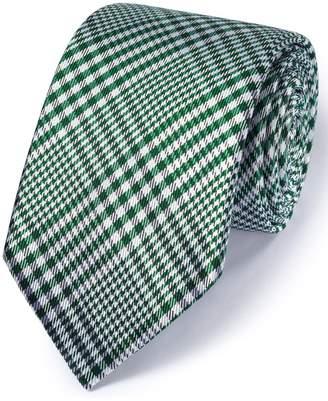 Charles Tyrwhitt Green Silk Classic Prince Of Wales Checkered Tie