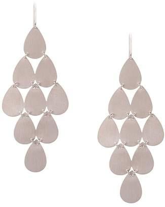 Irene Neuwirth 18kt white gold nine-drop chandelier earrings
