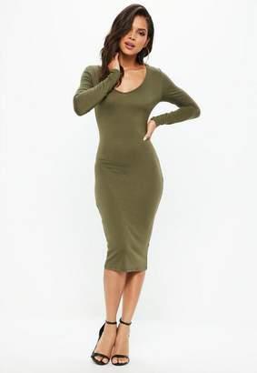 Missguided Long Sleeve Midi Dress