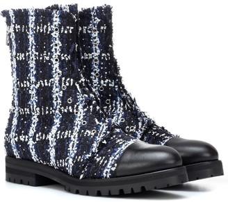 Jimmy Choo Exclusive to Mytheresa Haze Flat tweed ankle boots