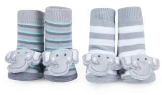 Waddle 2-Pack Elephant Rattle Socks