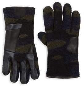 UGG Men's Fabric Smart Leather Gloves - Charcoal - Size XL