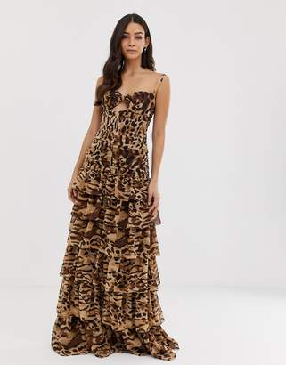 Bronx And Banco & Banco Amazon animal maxi dress