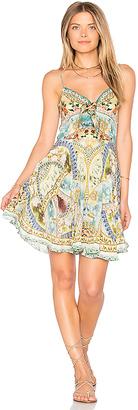 Camilla Tie Front Mini Dress in Green $500 thestylecure.com