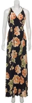 Reformation Sleeveless Floral Maxi Wrap Dress