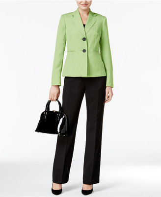 Le Suit Colorblocked Pantsuit $200 thestylecure.com