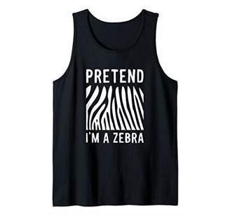 Pretend I'm A Zebra Funny Stripe Animal Lover Halloween Gift Tank Top