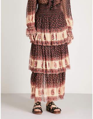 Zimmermann Jaya tiered silk-chiffon maxi skirt