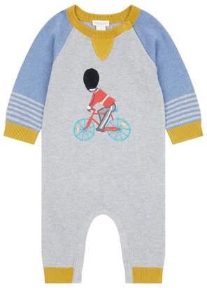 Monsoon Baby Boys' Grey Newborn London Bike Knitted Sleepsuit