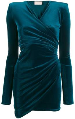 Alexandre Vauthier draped v-neck mini dress