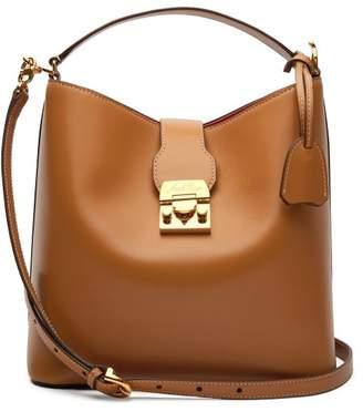 Mark Cross Murphy Smooth Leather Bucket Bag - Womens - Tan