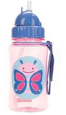 Skip Hop SKIP*HOP Zoo 12 oz. Butterfly Straw Bottle