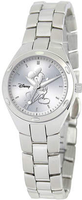 Disney Fortaleza Mickey Mouse Womens Silver-Tone Watch