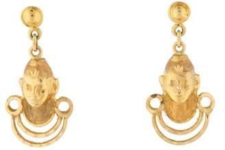 18K Figural Drop Earrings