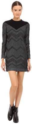 M Missoni Bicolor Mesh Long Sleeve Lurex Dress Women's Dress