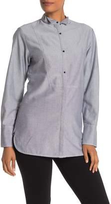 Jason Wu Grey Oxford Shirting Blouse