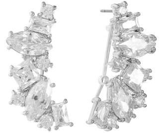 clear MONET JEWELRY Monet Jewelry Cubic Zirconia Ear Climbers