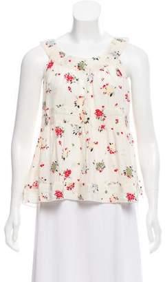 Anna Sui Floral Silk Top