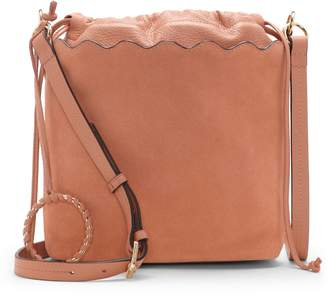 Vince Camuto Wavy Leather Bucket Bag